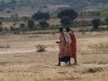 Mujeres masai volviendo a casa