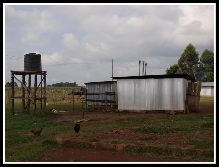 Cocina y depósito de agua