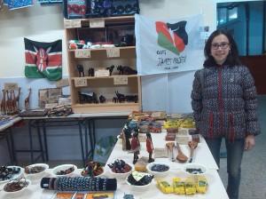 Mercado de artesanía keniana