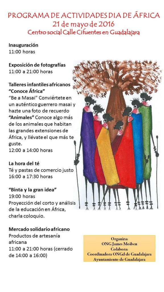 programación dia de Africa